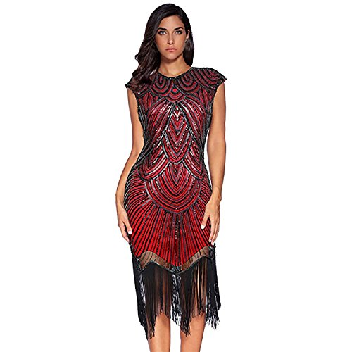 Red Flapper Dress Dresses Dress for Lady Dresses Beaded Sequin Women Gatsby I7xvcwq7t