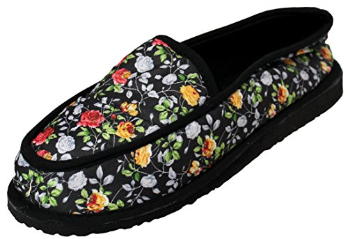 Women's Printed Close Back Bedroom Slippers, Indoor House Shoes, Home Slippers