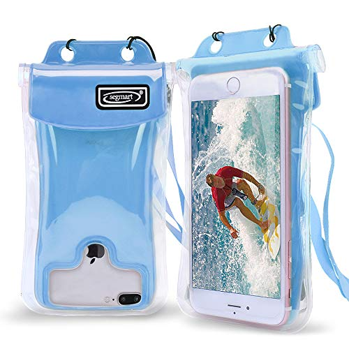 2019 Universal Waterproof Case Floating, Cellphone Dry Bag Pouch for iPhone X, 8/7/7 Plus/6S/6/6S Plus, Samsung Galaxy S9/S9 Plus/S8/S8 Plus/Note 8 6 5 4, Google Pixel 2 HTC/LG/Sony/Moto(Blue)