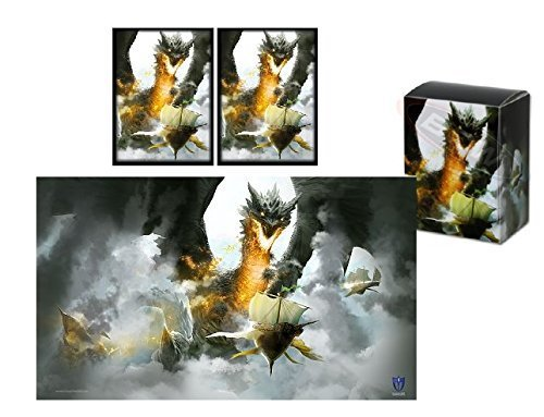 MAX PRO - Skyship AMBUSH - PLAYMAT + DECK BOX + 100 Matching GLOSS Finish Sleeves (fits Magic / MTG, Pokemon Cards)