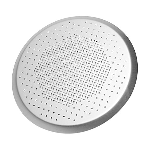 MagiDeal Round Anodized Aluminum Pizza Baking Pan Perforated Pizza Plate 6.5~15 inch - 15 inch