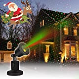 CAMTOA Christmas Laser Light, IP65 Waterproof Red & Green Laser Light – Outdoor Star Projector Landscape Projector, Red and Green Star Show for Christmas, Holiday, Parties, Landscape and Garden Decor For Sale