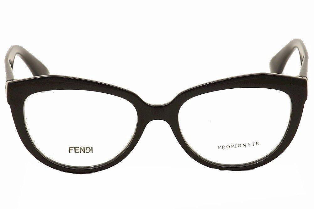 25a2ffdb1fbc Amazon.com: FENDI Eyeglasses 0020 0D28 Shiny Black 52MM: Health & Personal  Care