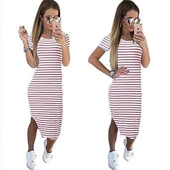 separation shoes bdaf0 eb7f0 Sommer Kleid sportliche Frauen mit kurzen Ärmeln runder ...