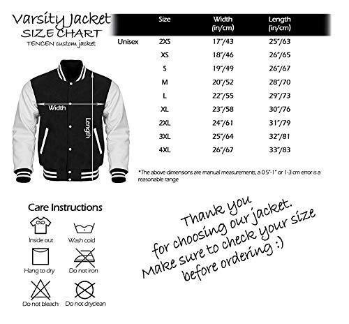 Tencen Custom Varsity Jacket Design Your Own letterman bomber award teddy jacket 2 Side All Over Print Front Back Jersey |