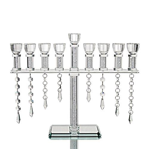 (Qf 9 Light Vintage Candelabra With Hanging Crystal Drops)