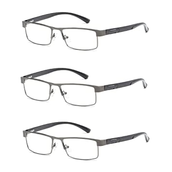 a78f023fa70 Amazon.com  3 Pack of AMILLET Mens Rectangular Business Reading ...