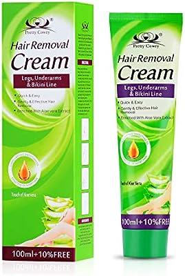 Crema depilatoria para la piel sensible para mujeres, cabello ...