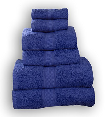 TowelsRus Aztex 500gsm Combed Cotton 6 Piece Towel Set Royal by Towelsrus