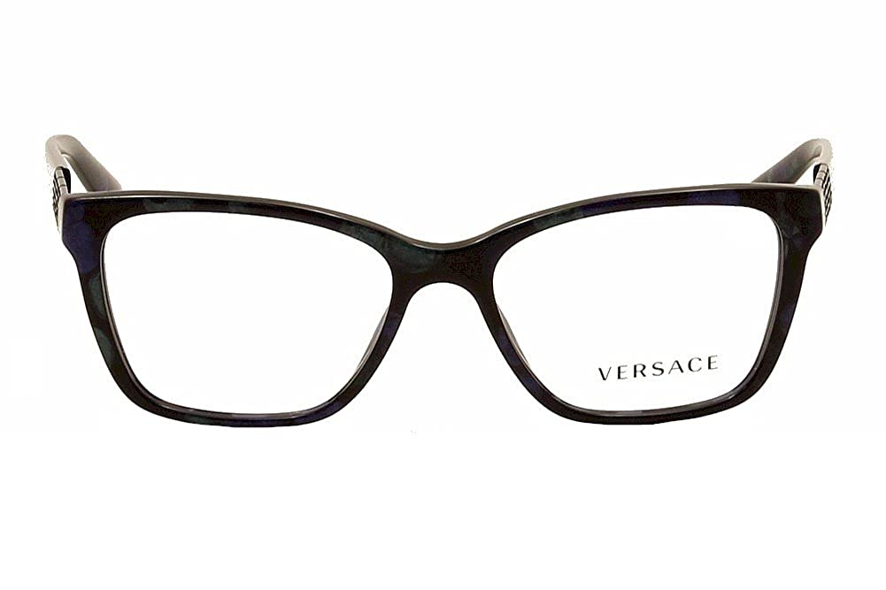 5456746b0c86 Amazon.com  Versace Eyeglasses VE3192B 5127 Marbled Black Green Blue 52 16  140  Clothing