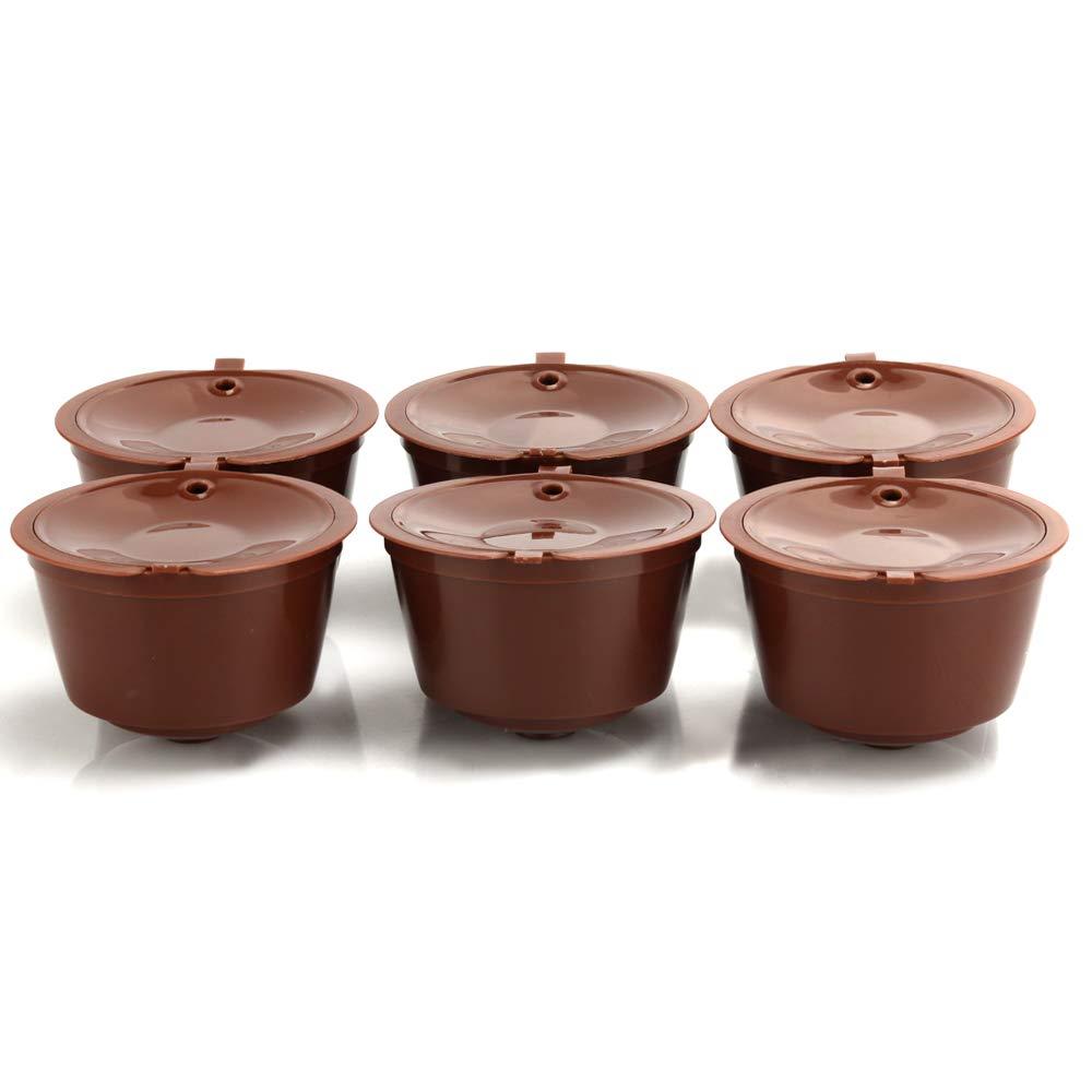 Dolce Gusto Capsules Refillable Coffee Filters Reusable Coffee Pods For Mini Me Genio Piccolo Esperta Circo (6pcs)