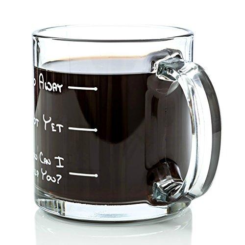 Go Away Funny Glass Coffee Mug 13oz Unique Christmas