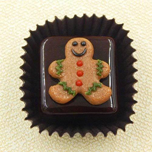 Christmas Gingerbread Boy Handmade Art Glass Chocolate Gift Sculpture Figurine Home Décor