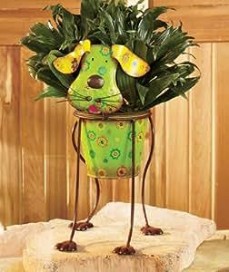 Amazon.com : Cute Dog Whimsical Colorful Metal Garden
