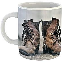 Westlake Art - Coffee Cup Mug - Boot Shoe - Modern Picture Photography Artwork Home Office Birthday Gift - 11oz (69m ba3)
