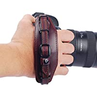 IMZ® E6 DSLR Camera Leather Wrist Strap Hand Grip + Metal Quick Release Plate for Nikon Canon Sony Pentax Olympus Panasonic SLR DSLR Cameras