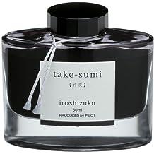 Pilot Iroshizuku Bottled Fountain Pen Ink, Take-Sumi, Bamboo Charcoal, Black (69224)