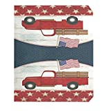 Wamika American Flag Red Truck Eagle Mailbox Covers