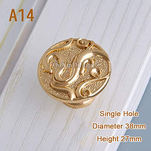 A14 High Quality 2PCS European Solid Brass Kitchen Cabinet Door Handles Cupboard Wardrobe Drawer Wine Cabinet Pulls Handles & Knobs  (color  A12)