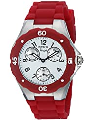 Invicta Womens Angel Quartz Stainless Steel and Leather Casual Watch, Color:Red (Model: 0701)