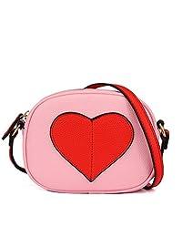 CMK TRENDY KIDS Color Block Heart Shape Purses for Kids Girls Cross Body Bag