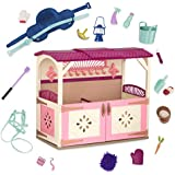 Glitter Girls by Battat – All Asparkle Acres Riding Stable Set – Accessory set for 14-inch horses - 14 inch Doll Accessories and Clothes for Girls Age 3 and Up – Children's Toys