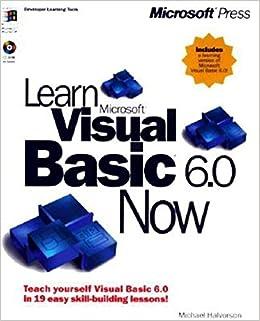 Microsoft Visual Basic 6.0 Tutorial Pdf