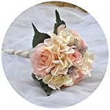 ULAPAN Wedding Bouquets For Bride,Bridal Bouquets Holding Flowers,Artificial Flowers For Wedding,Blush,F8