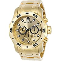 Invicta Men's 0074 pro Diver Analog Japanese Quartz 18k...
