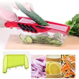 Peak Mall Adjustable Mandoline Slicer - 5 Interchangeable Blades - Fruits & Vegetables Cutter, Peeler, Slicer, Grater & Julienne Slicer