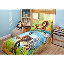 Disney DreamWorks Animation Madagascar Behold My Mane 4 Piece Toddler Bedding Set, Toddler