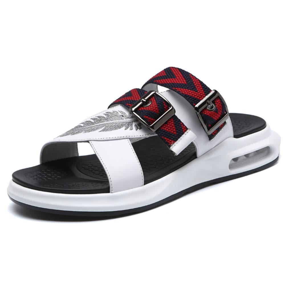 Tongs Homme Chaussures de Plage Outdoor Sandals Pantoufles Homme Cuir Cuir Cuir Sandales D'été Portent Coussin De Mode Hommes 634