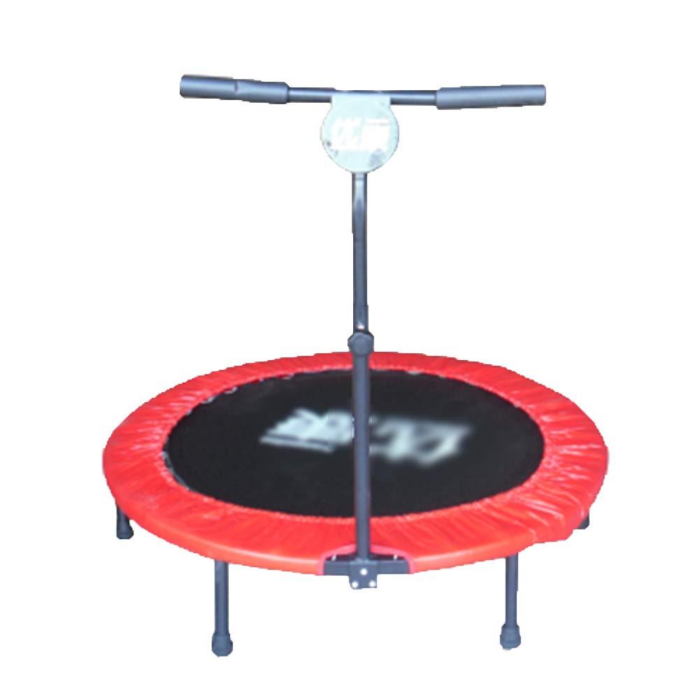 Gartentrampoline Trampolin mit verstellbarem Handlauf, Safe Elastic Band Fitnesstrainer für Kinder oder Erwachsene Sprungbett