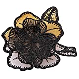 Black Lace Flower Custom Patches Sticker Sew On Applique-02