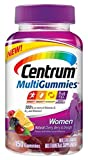 Centrum Women MultiGummies Multivitamin / Multimineral Supplement Gummies (Natural Cherry, Berry and Orange Flavor, 150 Count) (Package May Vary) by Centrum