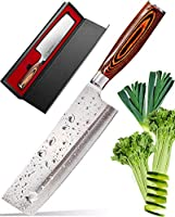 Vegetable Knife - Japanese Chef Knife - Usuba - Sharp Knife - Kitchen Knife - Stainless Steel High Carbon Pro Chef Knife...