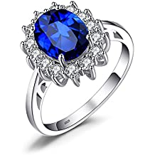 JewelryPalace Princess Diana William Kate Middleton's 3.2ct Ring 926 Sterling Silver
