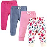 Touched by Nature Unisex Baby Organic Cotton Pants, Garden Floral, 4 Toddler