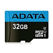 ADATA Premier 32GB microSDHC/SDXC UHS-I Class 10 Memory Card with Adapter Read up to 85 MB/s (AUSDH32GUICL1085-RA1)