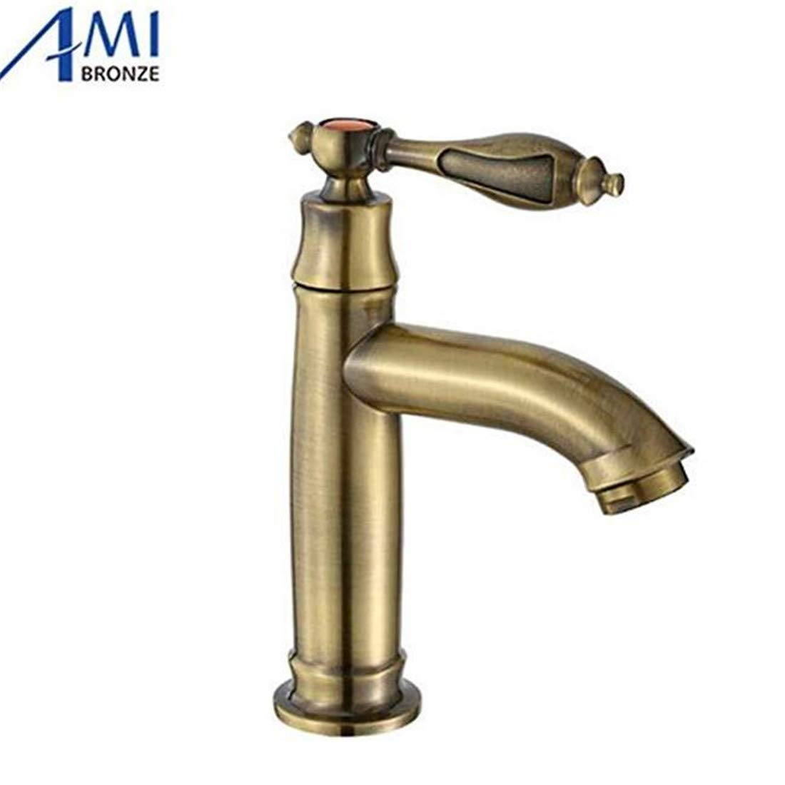 Luxury Modern Hot and Cold Faucet Vintage Platingfaucet Antique Bronze Operation Bathroom Basin Faucets Kitchen Brass Crane