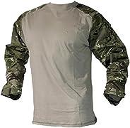 Mafoose Tactical Military Combat Camo Paintball Airsoft Mock Shirt