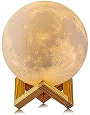 20 cm Dimmable 3D Magical Moon Lamp USB LED Night Light Moonlight Touch Sensor Lamp