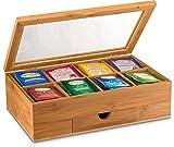 Bambusi Bamboo Tea Storage Box - Natural Wood Tea