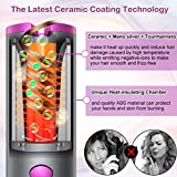 Cordless Hair Curler, Automatic Curling Iron with 6 Adjustable Temperature, Auto Rotating Ceramic Barrel Hair Curler Fast Heating, Portable USB Rechargeable Beach Waves Curling Iron Wand