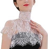 Sex False Collar Lace for Women Girl Flower Black White Half Shirt Fake Collar Choker Tie