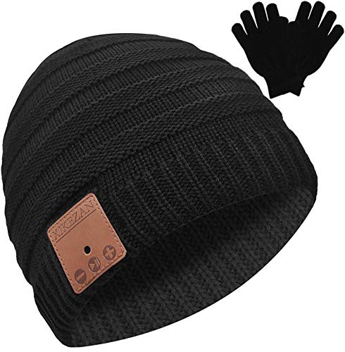 Bluetooth Beanie Novelty Headwear Christmas Stocking Stuffer Gifts for Men Women Dark Red