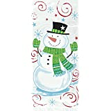 Snowman Swirl Holiday Cellophane Bags, 20ct