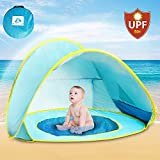 Pop up Beach Tent,Infant Baby Beach Tent Baby UV Protection Sun Shelter Kiddie Pop up Pool Waterproof Portable Indoor Outdoor