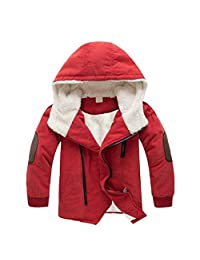 Iuhan Boys Jackets Hooded With Fur Outerwear Children Warm Winter Jacket Clothing