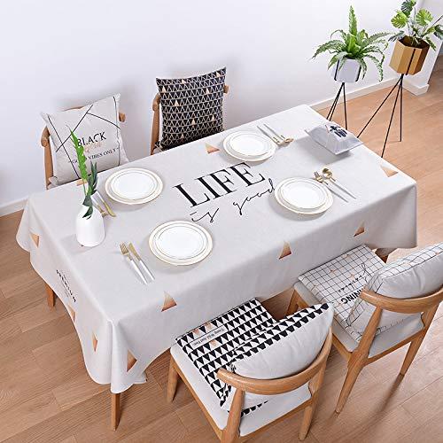 F 110110cm Myzixuan Tapis de table simple rectangulaire nappe chanvre coton nappe table basse tissu tables à hommeger